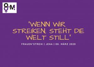 Grafik zum Frauen*streik am 08. März