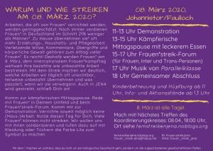 Bilddatei Flyer Frauen*streik 2020 Rückseite